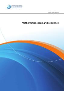 PYP math scope and sequ..
